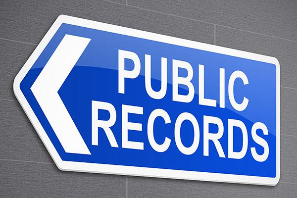 Public Records sign