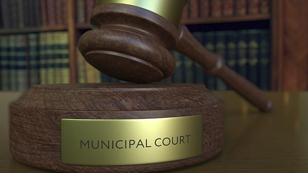 Municipal Court gavel.